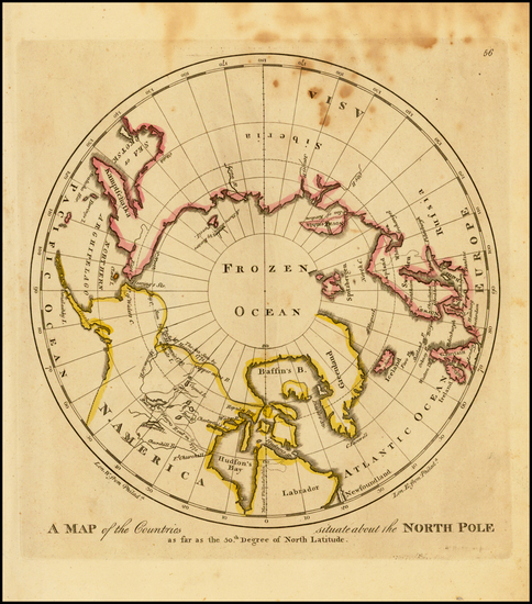 13-Polar Maps, Alaska and Canada Map By