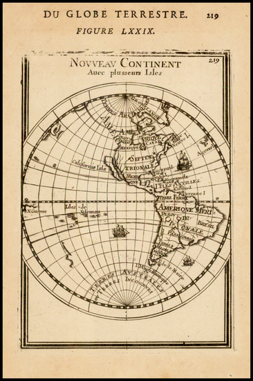 61-Western Hemisphere, South America and America Map By Alain Manesson Mallet