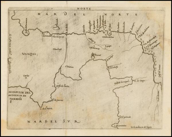 81-Central America Map By Antonio de Herrera y Tordesillas