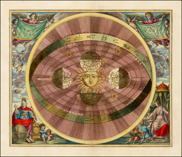 87-Celestial Maps Map By Andreas Cellarius
