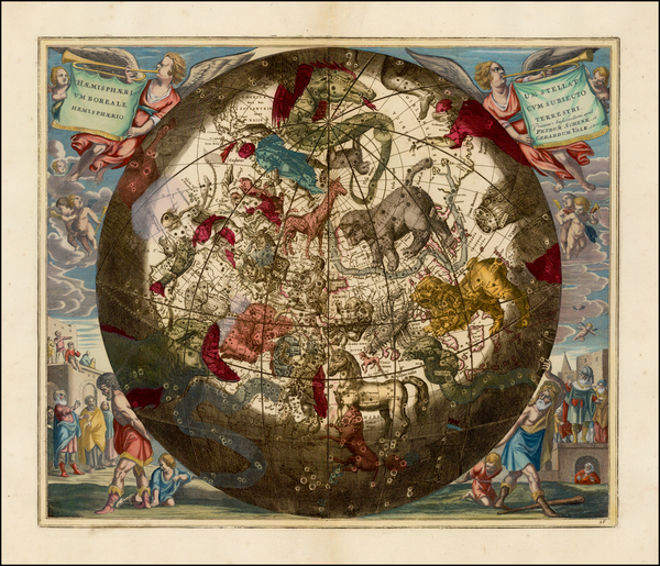 0-Celestial Maps Map By Andreas Cellarius