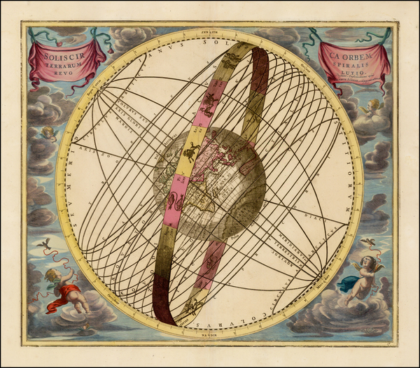 71-Eastern Hemisphere and Celestial Maps Map By Andreas Cellarius