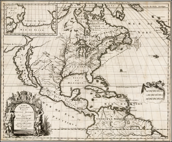 24-Midwest and North America Map By Louis de Hennepin