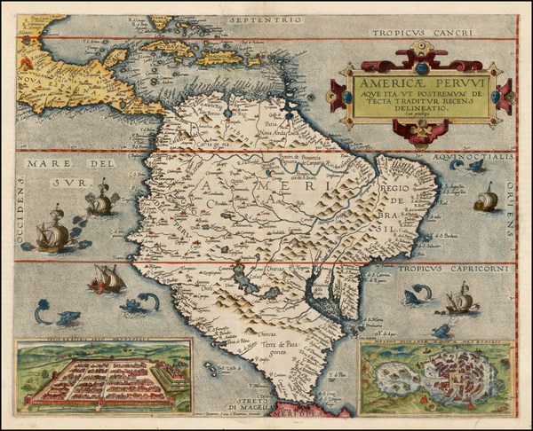 24-South America and Brazil Map By Gerard de Jode
