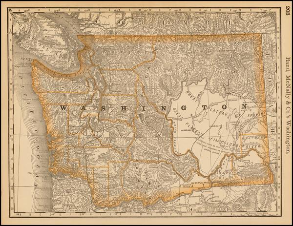 61-Washington Map By William Rand  &  Andrew McNally