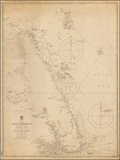 66-Southeast Asia, Singapore and Malaysia Map By British Admiralty
