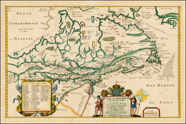 4-New England, Mid-Atlantic, Midwest and Canada Map By Pierre Du Val