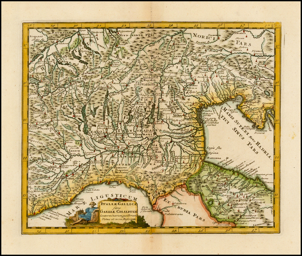 10-Switzerland and Northern Italy Map By Philipp Clüver