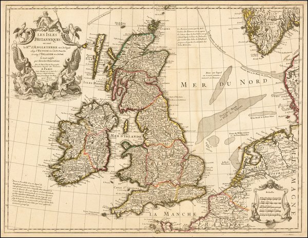 88-British Isles Map By Guillaume De L'Isle