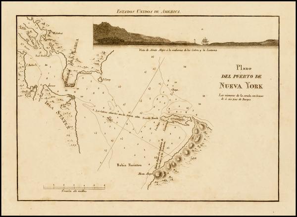96-New York City and Mid-Atlantic Map By José Joaquín de Ferrer y Cafranga