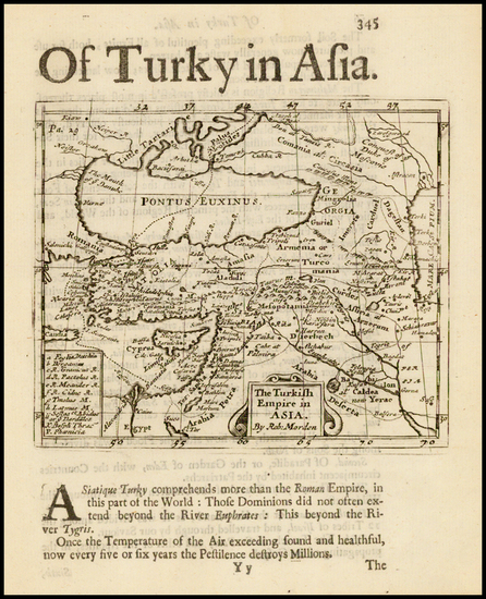 37-Central Asia & Caucasus and Turkey & Asia Minor Map By Robert Morden
