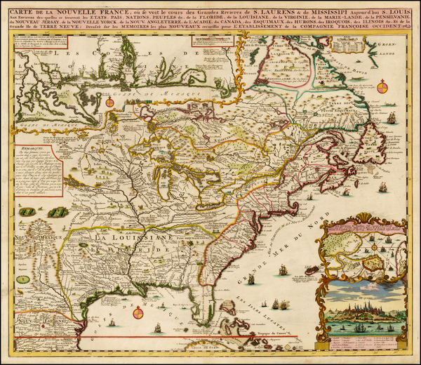 39-United States, South, Southeast, Midwest, North America and Canada Map By Henri Chatelain