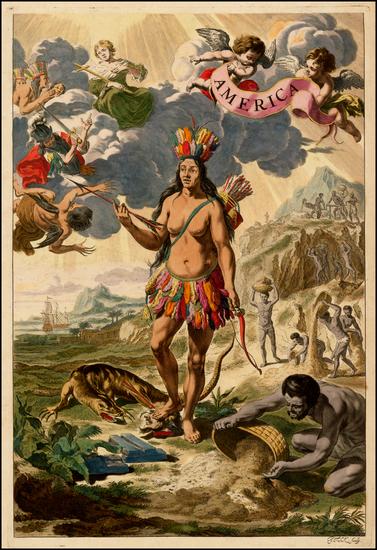 37-South America and America Map By Johannes et Cornelis Blaeu