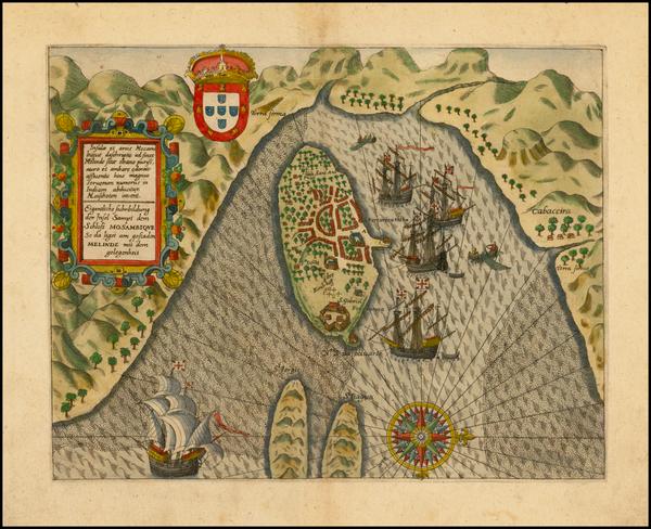 49-East Africa Map By Jan Huygen Van Linschoten