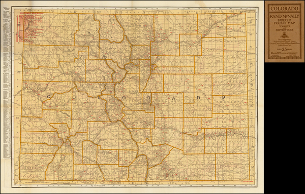 30-Southwest, Rocky Mountains and Colorado Map By Rand McNally & Company