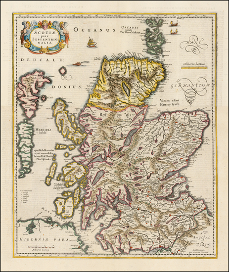 99-Scotland Map By Henricus Hondius