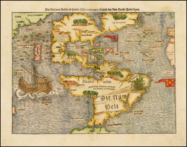 60-World, Western Hemisphere, North America, South America, Japan, Pacific and America Map By Seba
