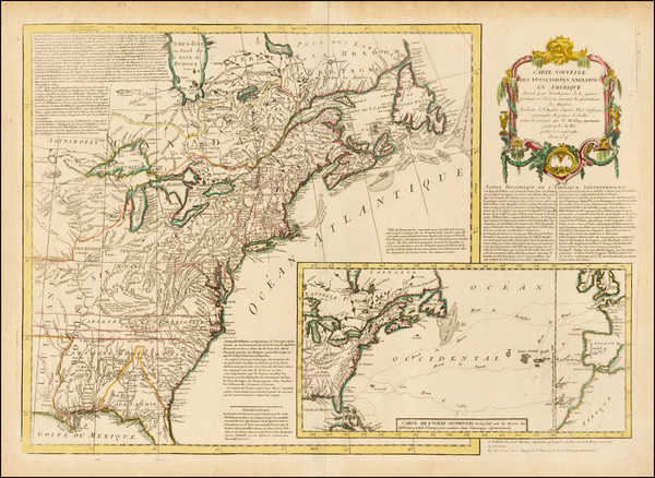 30-United States and American Revolution Map By Maurille Antoine Moithey
