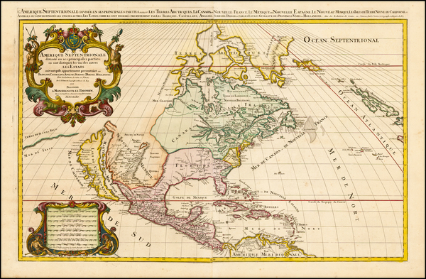 35-North America and California Map By Alexis-Hubert Jaillot