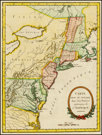 65-United States, New England and Mid-Atlantic Map By Thomas Anburey