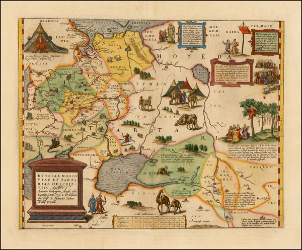 30-Russia, Ukraine, India, Central Asia & Caucasus and Russia in Asia Map By Abraham Ortelius