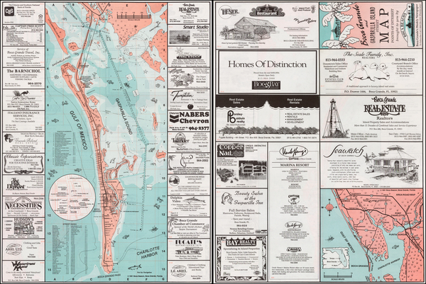 54-Florida and Pictorial Maps Map By Boca Beacon