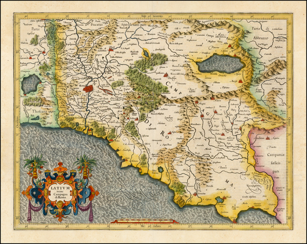 8-Italy Map By  Gerard Mercator