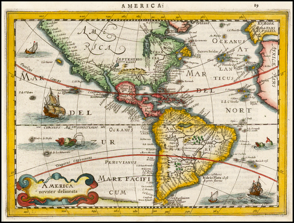 6-South America and America Map By Johannes Cloppenburg