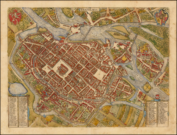 20-Poland Map By Georg Braun  &  Frans Hogenberg