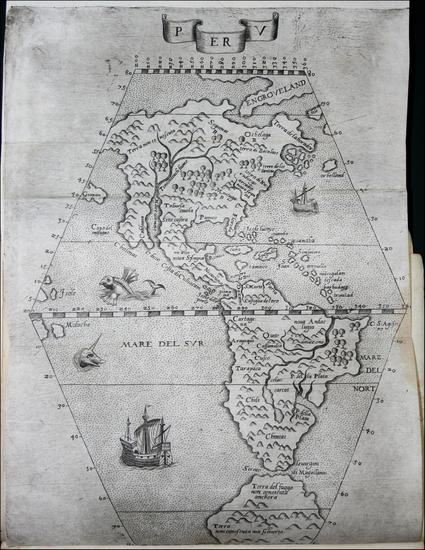 21-North America, South America and America Map By Giuseppe Cacchij dell' Aquila