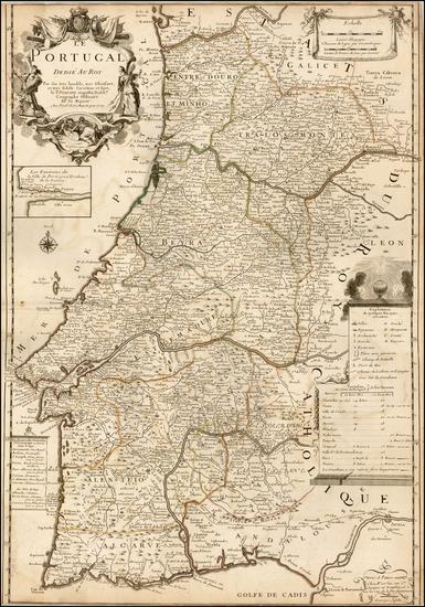 7-Portugal Map By Augustin  Dechaussé / Le Pere Placide de St. Helene