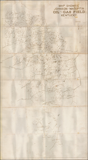 38-Kentucky Map By W.B.  Wescott