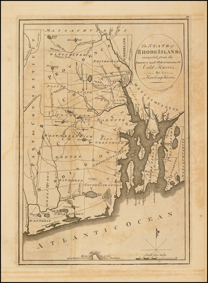 88-New England and Rhode Island Map By
