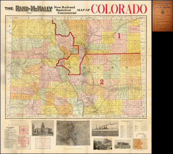45-Rocky Mountains and Colorado Map By Rand McNally & Company
