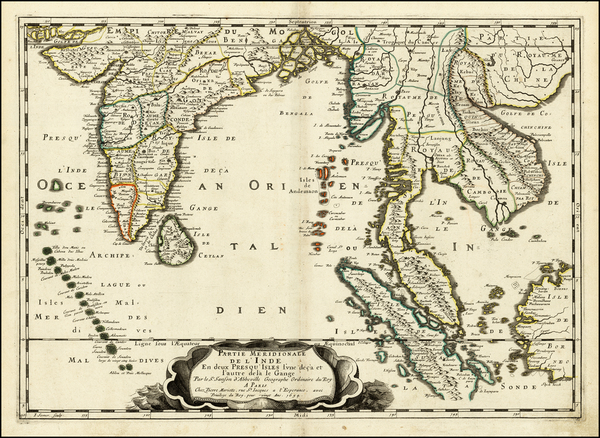 87-Indian Ocean, India and Southeast Asia Map By Nicolas Sanson