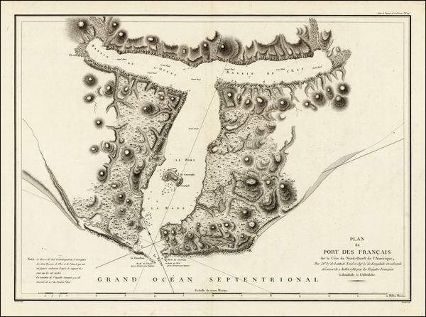 76-Alaska Map By Jean Francois Galaup de La Perouse