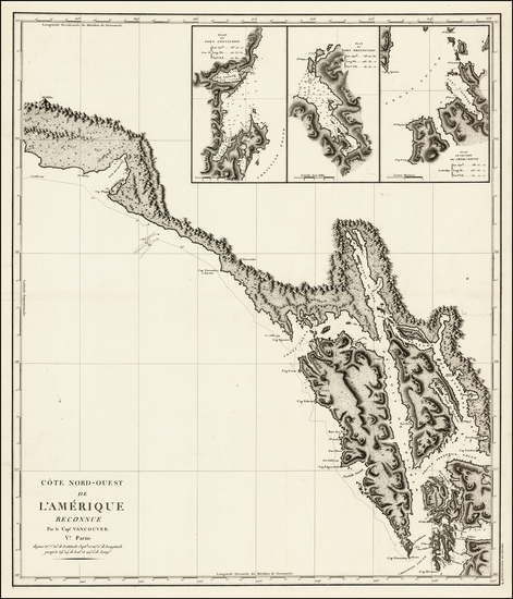 95-Alaska and Canada Map By George Vancouver