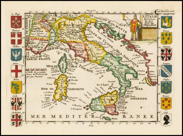 57-Italy Map By Daniel de La Feuille