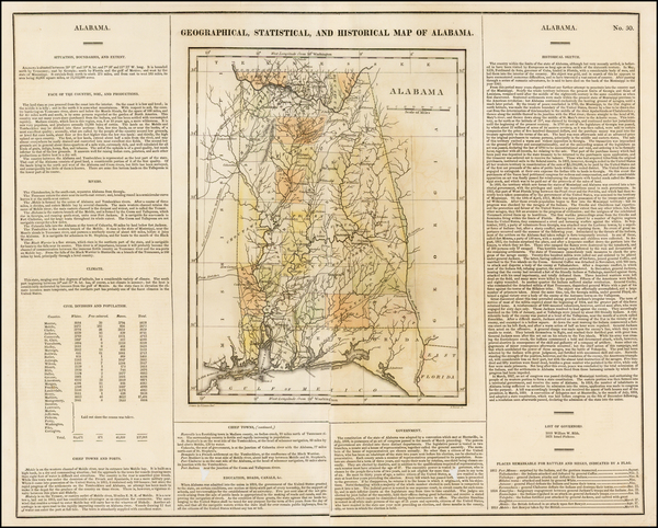 7-South and Alabama Map By Henry Charles Carey  &  Isaac Lea
