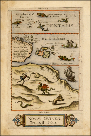 89-Australia and Other Pacific Islands Map By Cornelis de Jode