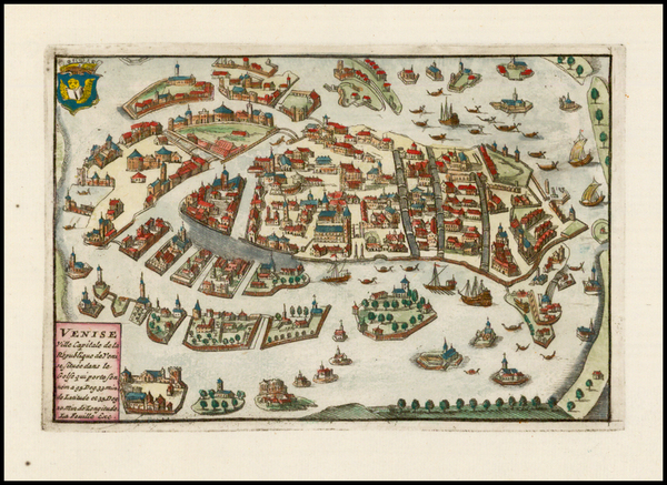 Italy and Venice Map By Daniel de La Feuille