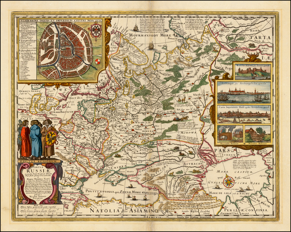 100-Russia and Ukraine Map By Claes Janszoon Visscher