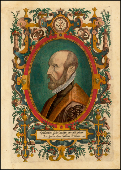 6-Portraits & People Map By Abraham Ortelius