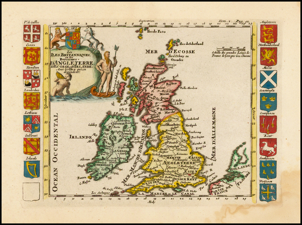 British Isles Map By Daniel de La Feuille