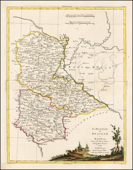 78-Poland and Ukraine Map By Antonio Zatta