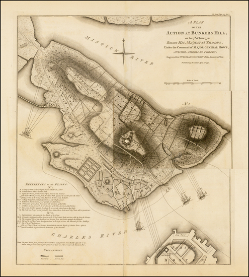 29-New England and Massachusetts Map By Charles Stedman / William Faden