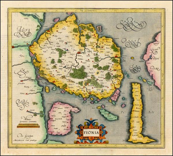 25-Baltic Countries and Scandinavia Map By Gerhard Mercator