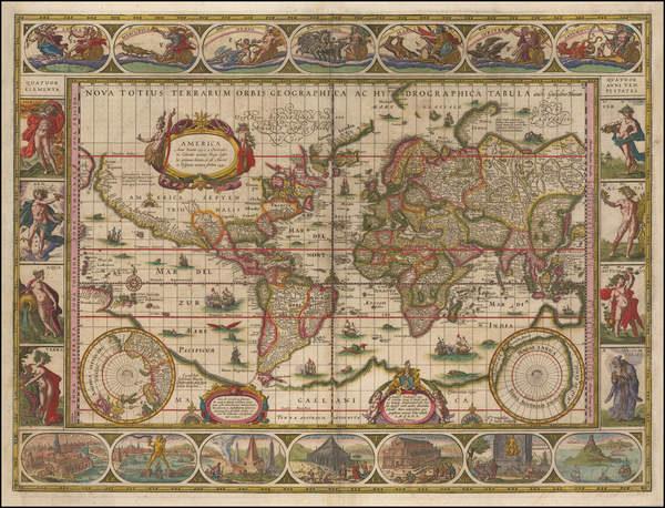 33-World Map By Willem Janszoon Blaeu