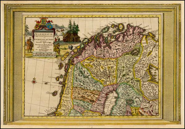 48-Scandinavia Map By Pieter van der Aa