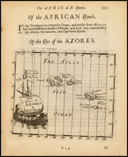 African Islands, including Madagascar Map By Robert Morden